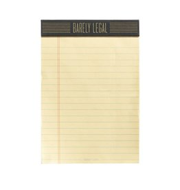 Easy, Tiger Barely Legal Tearoff Notepad