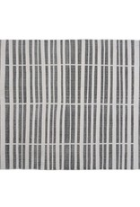 HomArt Block Print Rug Cotton Rug, 4x6 - Broken Stripe