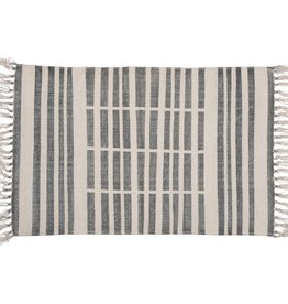 HomArt Block Print Rug Cotton Rug, 2x3 - Broken Stripe