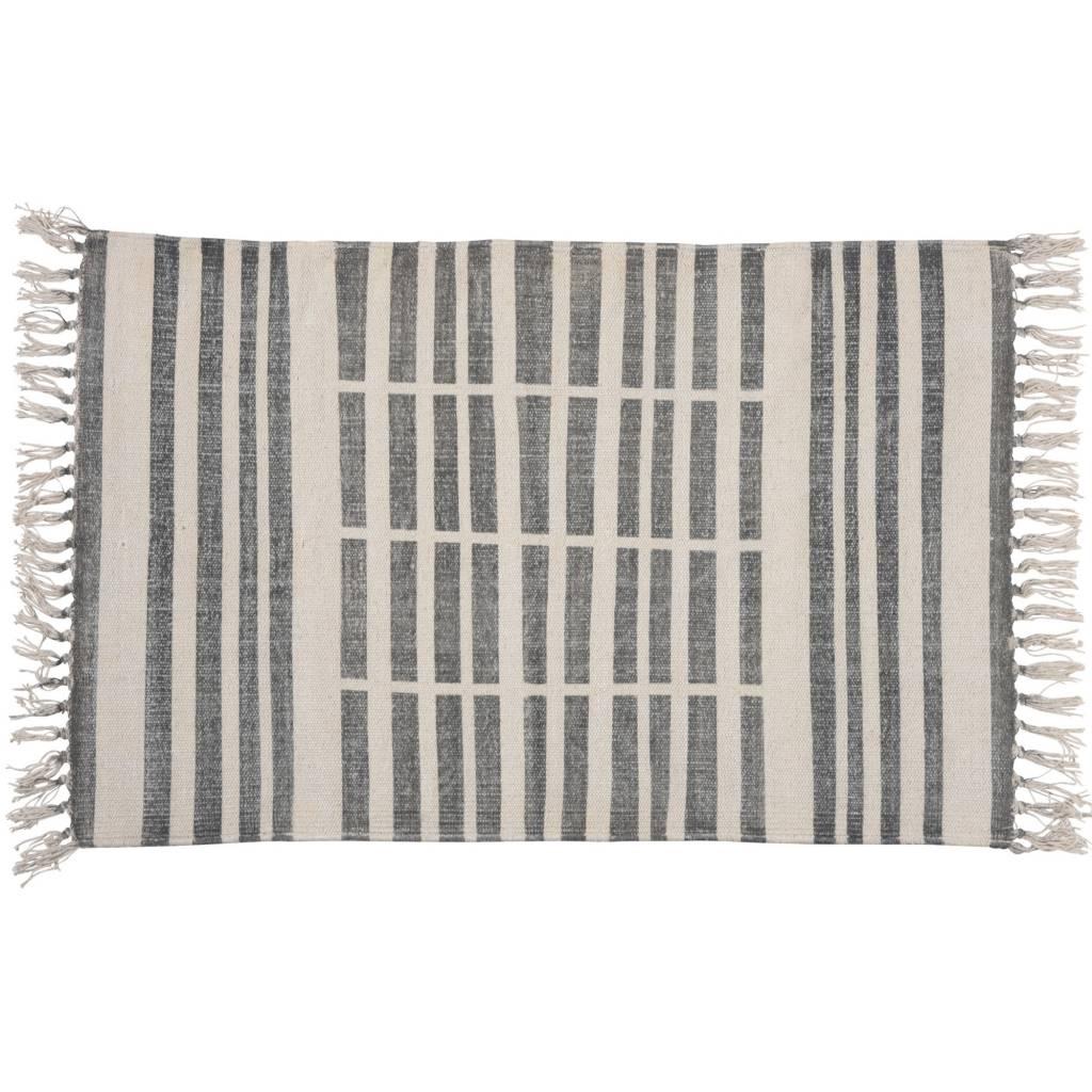 HomArt Block Print Rug Cotton Rug, 2x3 - Broken Stripe