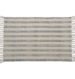 HomArt Block Print Rug Cotton Rug, 2x3 - Sawtooth Stripe