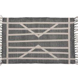 HomArt Block Print Rug Cotton Rug, 2x3 - Centerpoint Stripe
