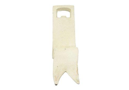 HomArt Ribbon Bottle Opener - White