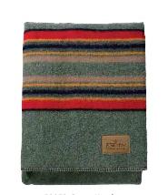 Pendleton Yakima Camp Blanket - Green Heather -Twin