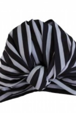 Louvelle DAHLIA shower cap in Monochrome Stripe