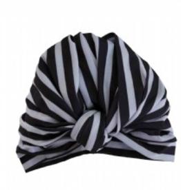 Louvelle DAHLIA shower cap in Monochrome Stripe