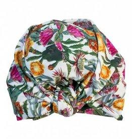 Louvelle DAHLIA shower cap in Cactus Garden