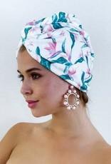 Louvelle RIVA Hair Towel Wrap in Hawaiian Bird of Paradise