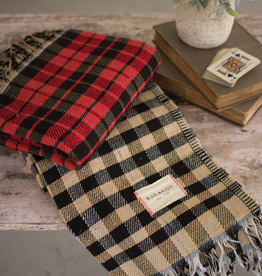 Kalalou Table cloth - Red Checks