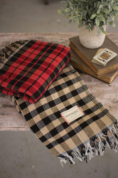 Kalalou Table cloth - Red Checks