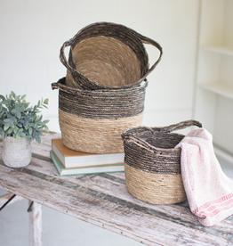 Kalalou Small black & natural basket