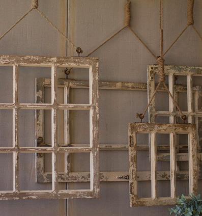 Kalalou Hanging Window Frame, Med