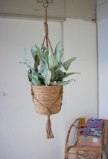 Kalalou Natural Basket with Jute Hanger