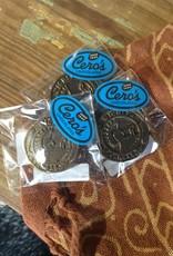 Cero's Candies Dark Chocolate Wichita Coin