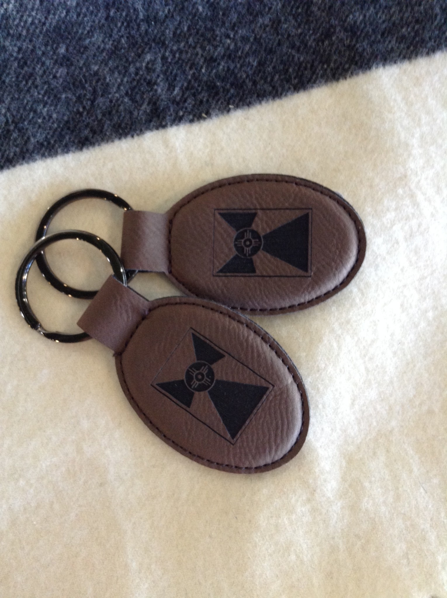 Gary Kline Leather Flag Key Ring