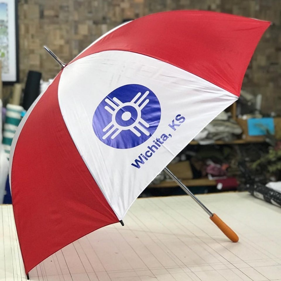 The Workroom Wichita Flag Golf Umbrella