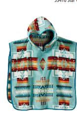 Pendleton Chief Joseph Aqua Hooded Children's Towel