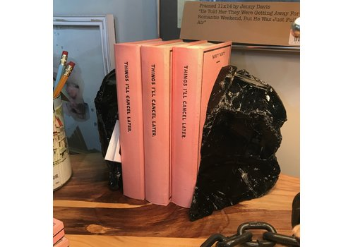 Rock Paradise Obsidian Bookends