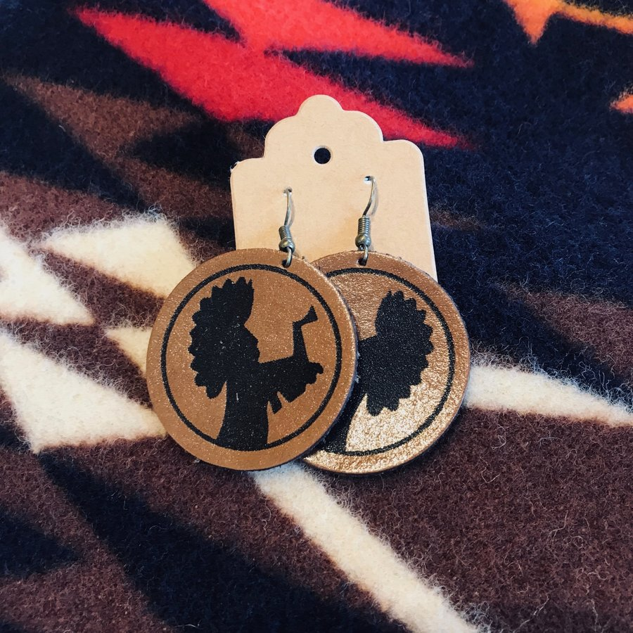 ICT Leather Earring