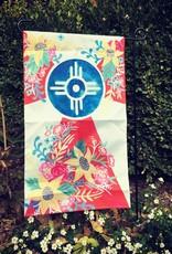 "Elisabeth Owens Floral Wichita Garden Flag 12x20"" No.1"