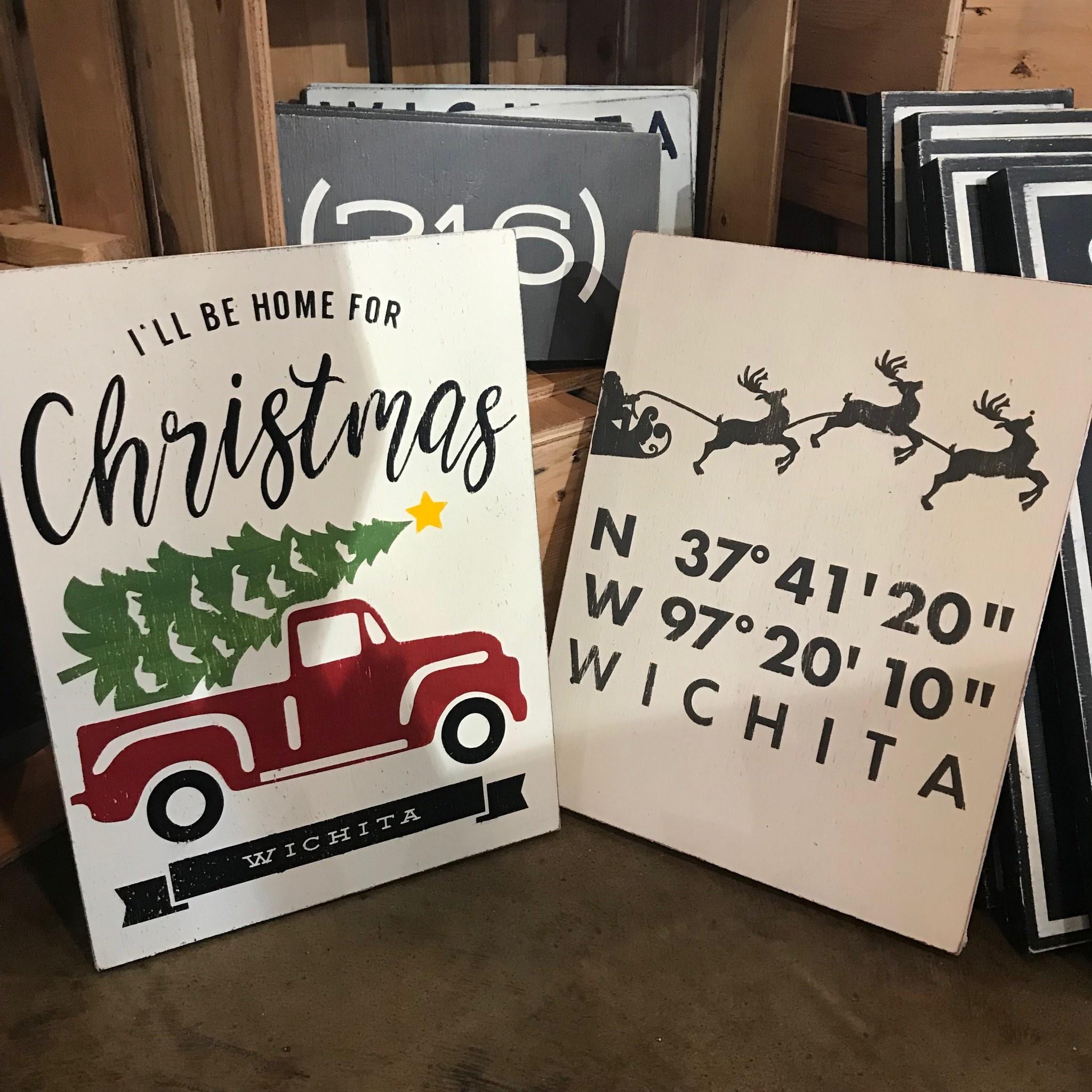 Farmdog Red Truck Holiday Sign