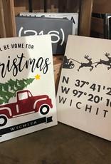 Farmdog Coordinates Holiday Sign