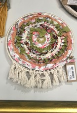 Acorn Willows Circular Weaving w/ PomPom Wall Hanging
