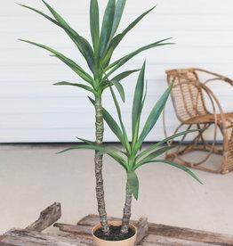 Kalalou Artificial Heneken Plant with Painted Plastic Pot