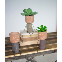 Pot Head Clay & River Rock Shelf Sitter