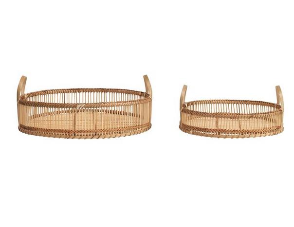 Round Decorative Bamboo Tray Small