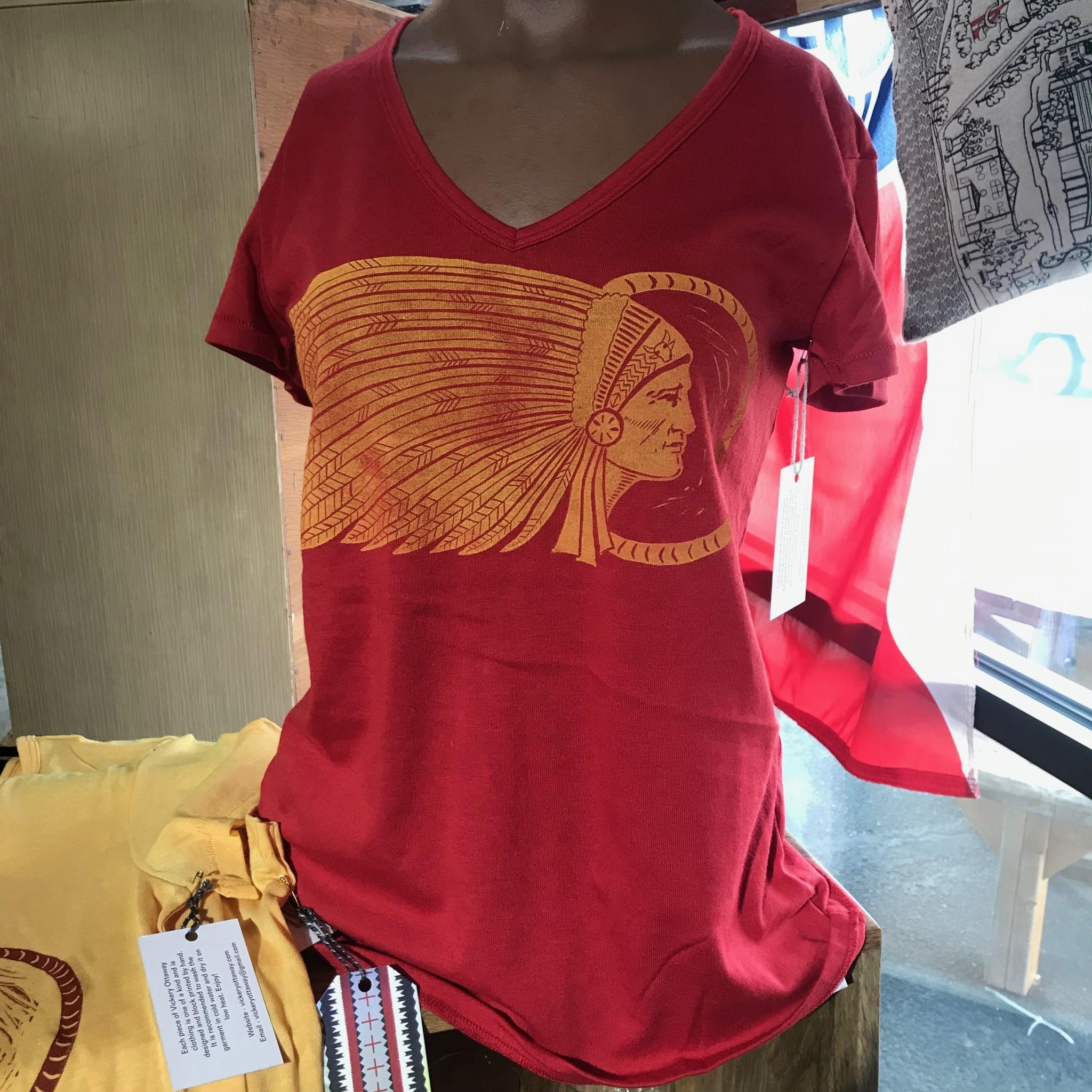 Vickery Ottaway Design V Neck Chiefs Shirt