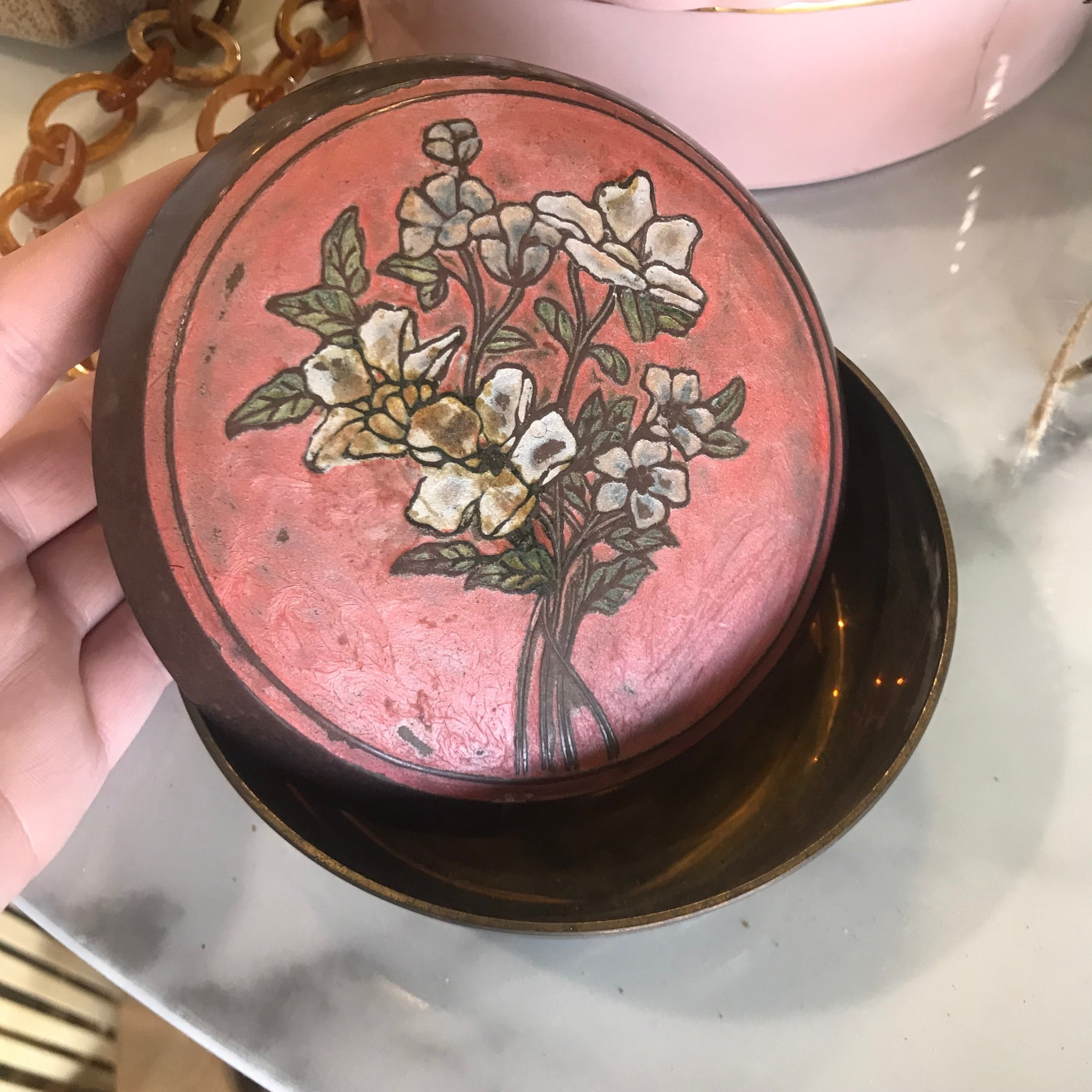 Vintage Vintage Japanese Trinket Box