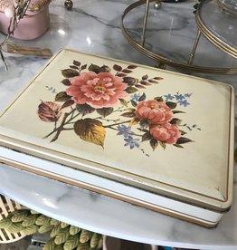 Vintage Vintage Floral Tin