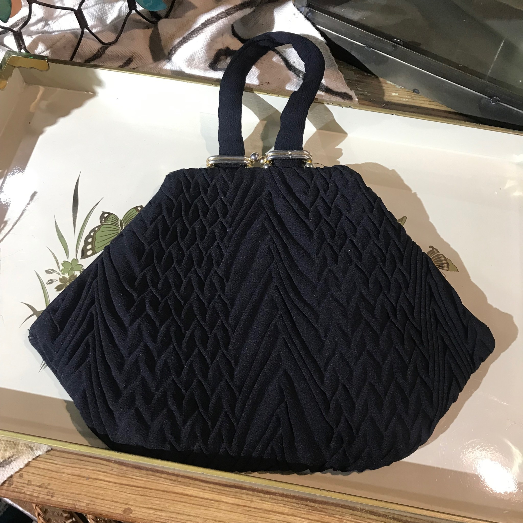 The Workroom Vintage Black Purse