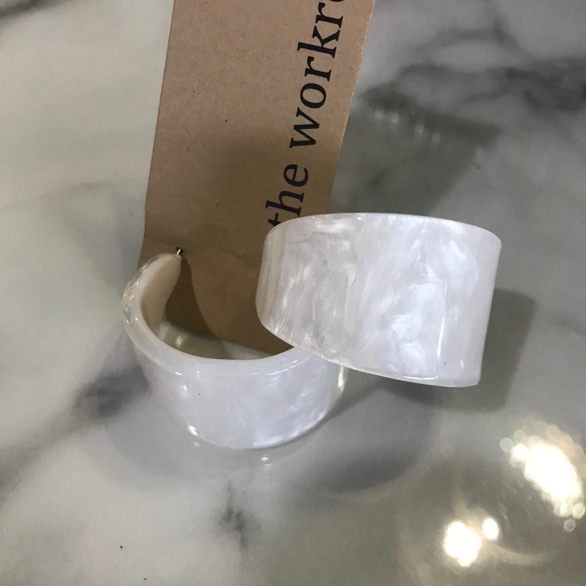 Marble Hoop Earrings