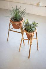 Kalalou Bamboo Stand with Terracotta Pot