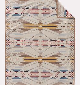 Pendleton Unnapped Jacquard Blanket Robe White Sands Tan
