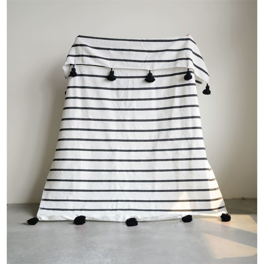 Hand-Loomed Cotton Throw