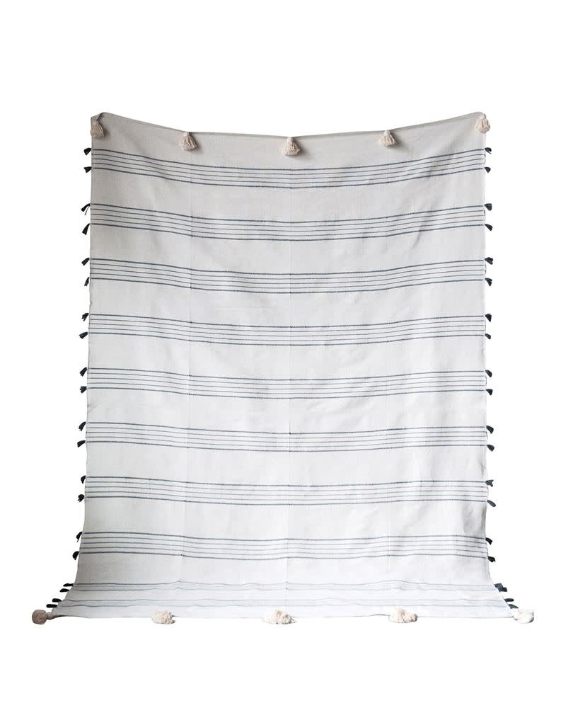 Creativeco-op Hand-Loomed Cotton Throw
