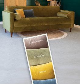 Kalalou Velvet Sofa with Two Bolster Pillows