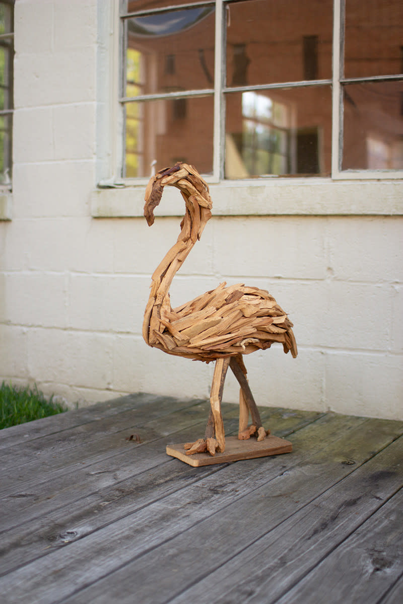 Kalalou Driftwood Flamingo