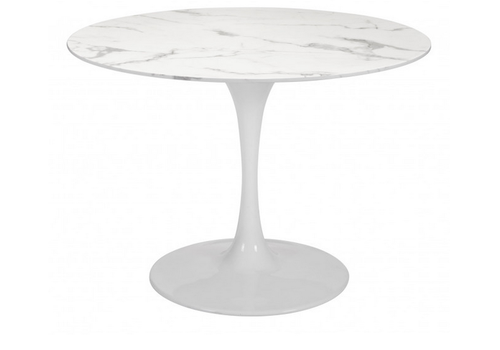 Dylan Dining Table Stone & White