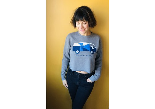 The Workroom Kitten Cropped Sweatshirt