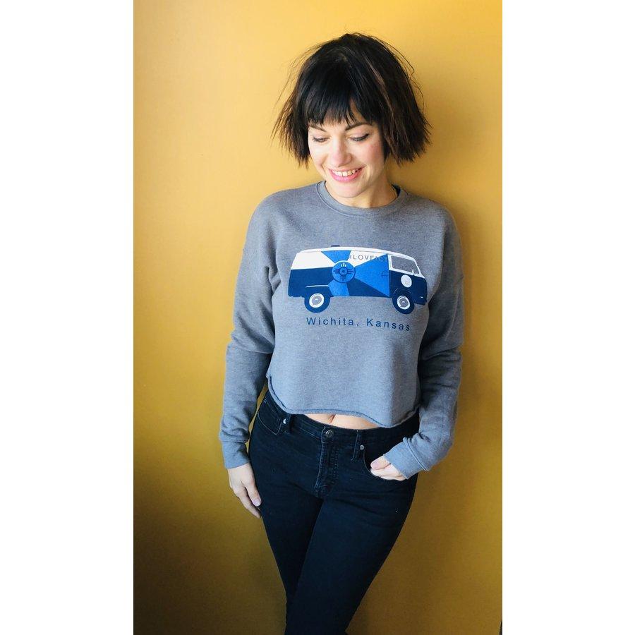 Kitten Cropped Sweatshirt