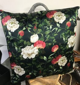 Silk Rose Pattern Cushion