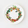 "Onehundred80degrees Christmas Wreath ""paper"" plate 9"" set of 4"