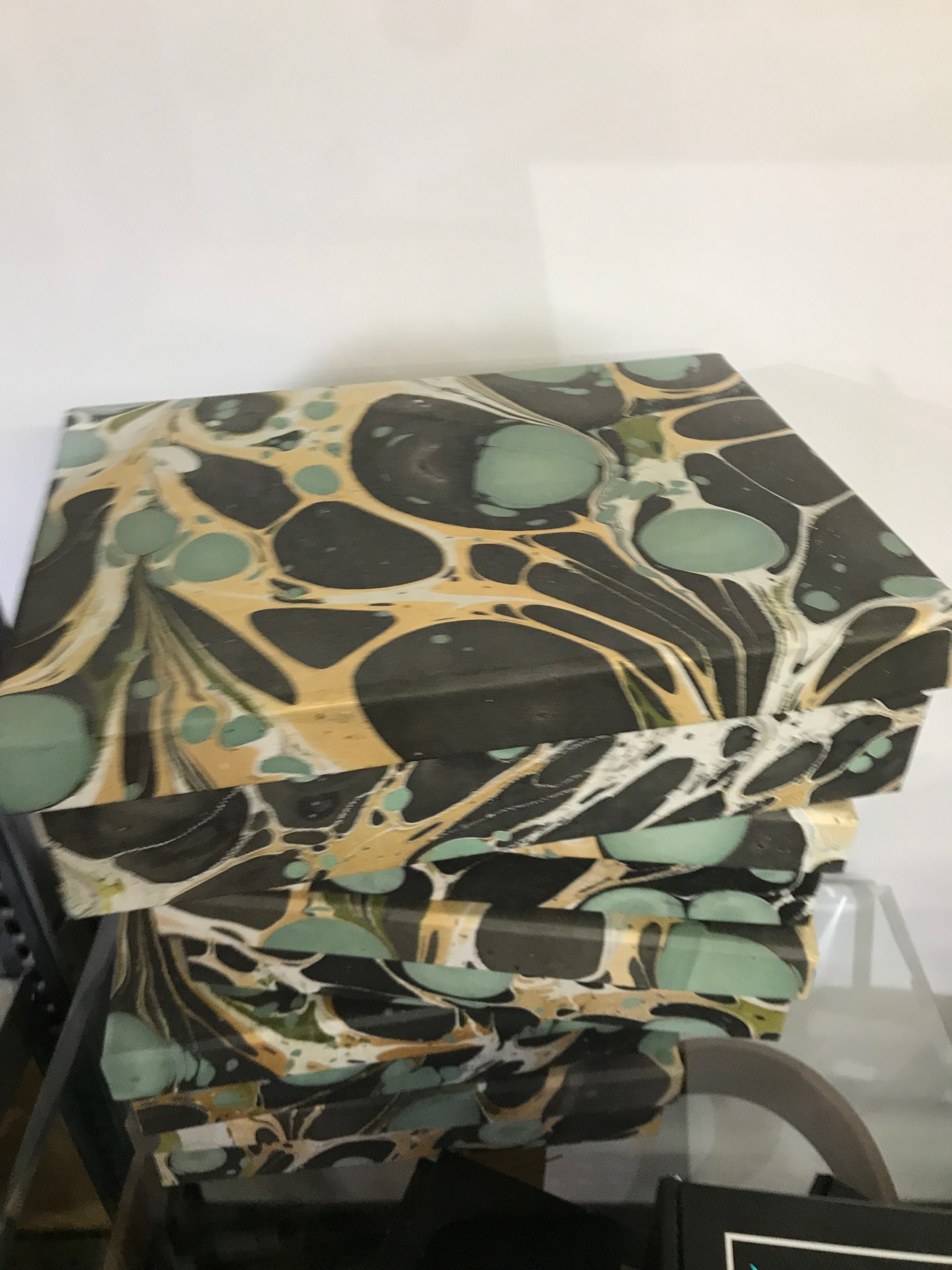 HomArt Marbleized Paper Box