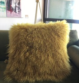 "Lamb Fur Pillow 20x20"" with insert"