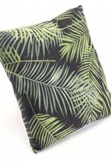 Topical Black & Green Pillow