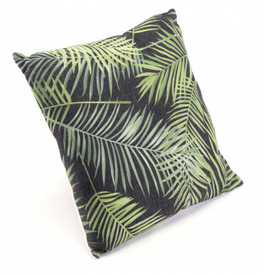 Topical Black & Green Pillow